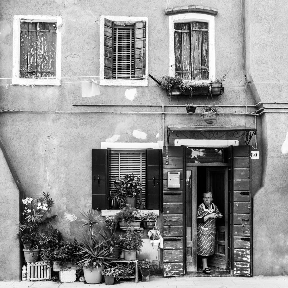 La mama, île de Burano - photographie numérique, 2014