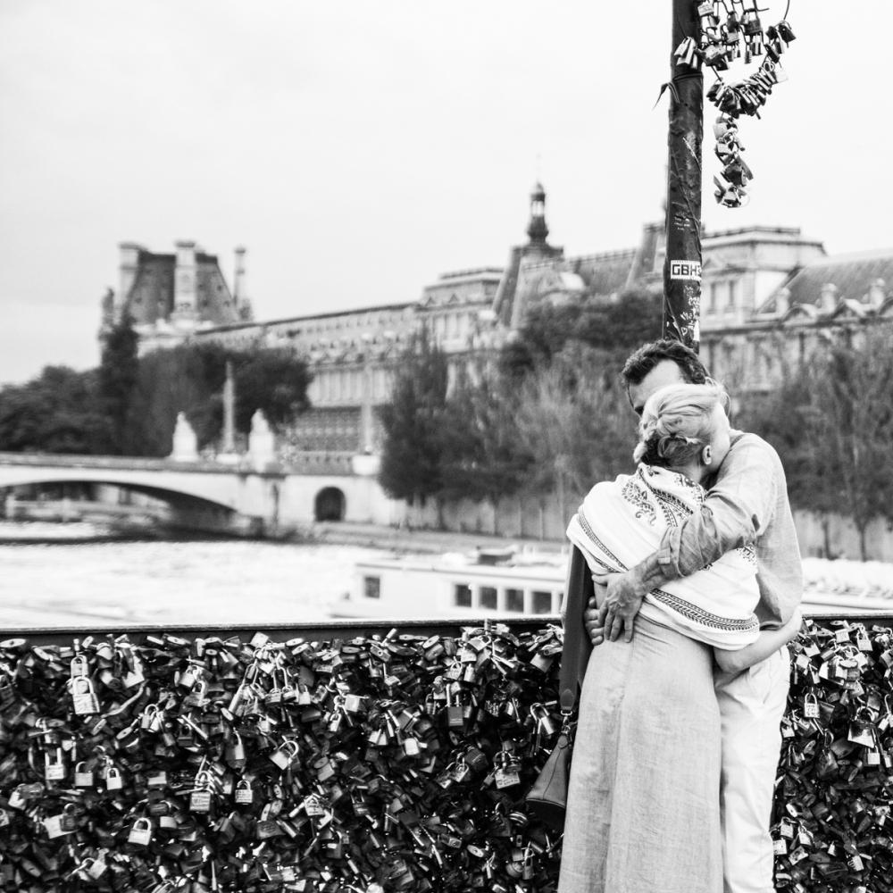 Les amoureux du Pont des Arts, Paris - photographie numérique 2014