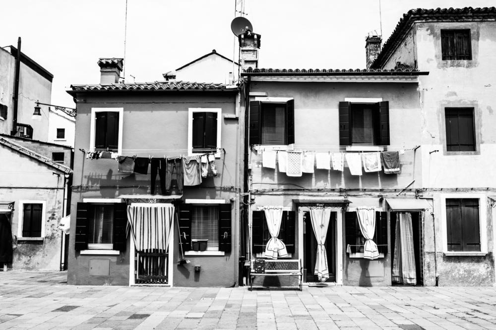 Maisons vénitiennes, île de Burano - photographie numérique, 2014