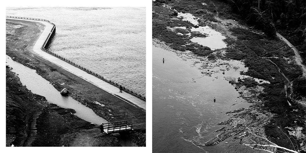 d'en haut, Chute Montmorency - photographies numériques, 2015
